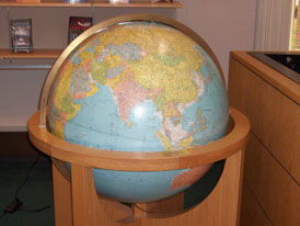 Illumuniated Globe in Youth Area