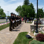 Marine Honor Guard and Oakland County Sheriffs