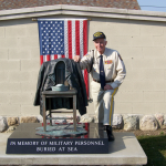 Joe Zikewich with the Peacoat Memorial
