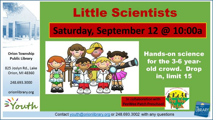 Little Scientists: Paper Capers - Saturday, September 12 at 10am