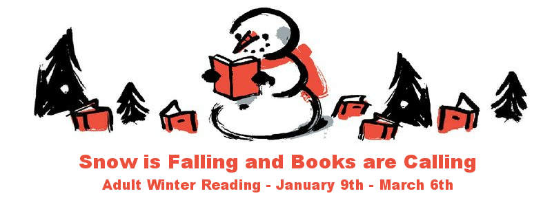 Snowman reading - winter reading logo