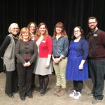 Author Alison DeCamp with Youth Staff