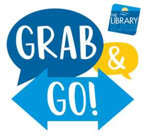 Grab & Go Graphic with Orion Library Logo