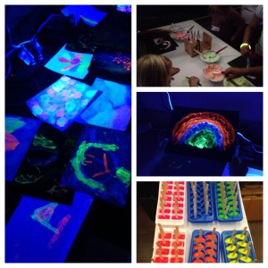 Neon Glow Art at the Orion Library