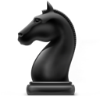 Chess Piece - Black Knight