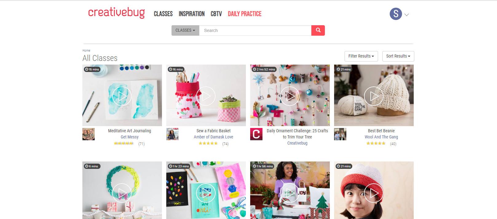CreativeBug Landing Page