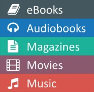 Download eBooks, Audiobooks, Magazines, Movies & Music