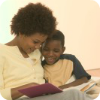 Woman Reading to Older Child
