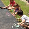 painting with slime at the Orion Library