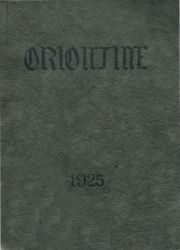 Cover of the 1925 Oriontine - Lake Orion High School Yearbook