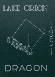 Cover of the 1951 Dragon - Lake Orion High School Yearbook