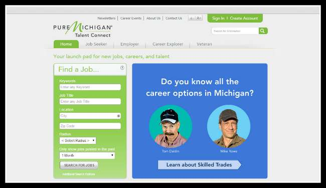 Pure Michigan Talent Connect - Screenshot