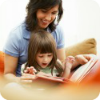 Woman Reading to Toddler