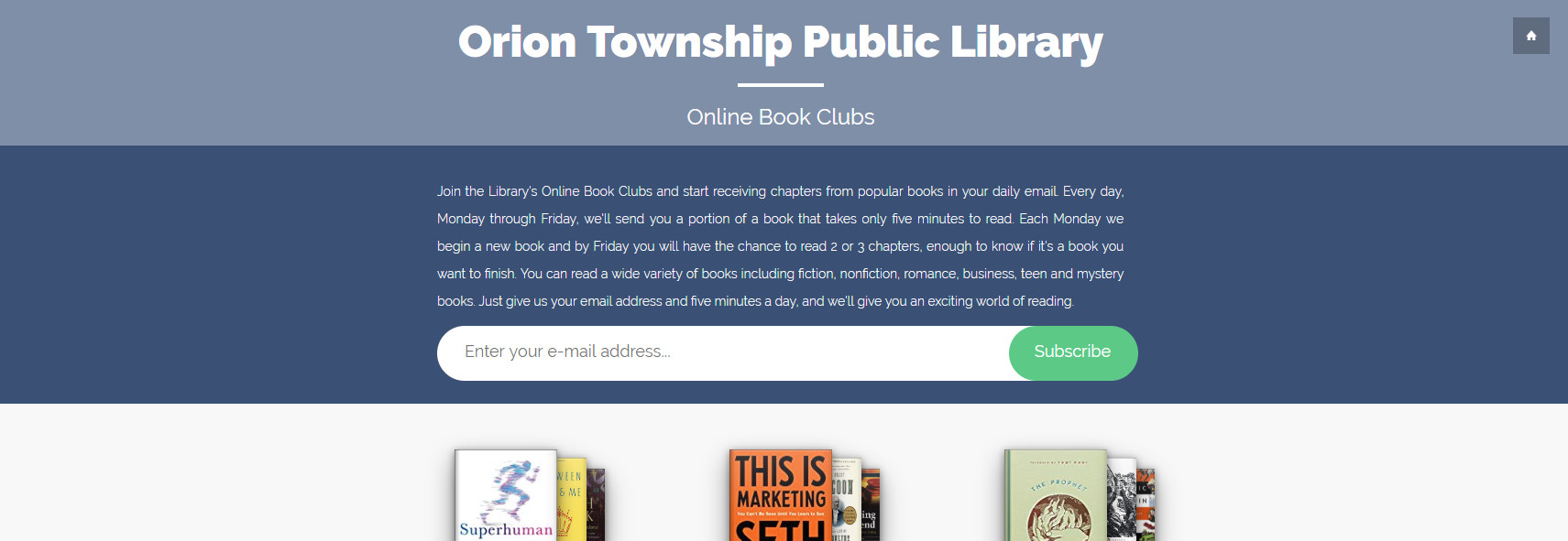 Online Book Clubs - Screenshot