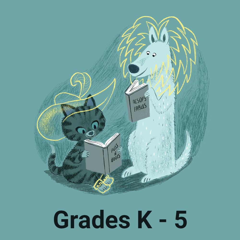 Summer Reading Logo - Grades K through 5