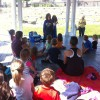 Orion Library stories in the park at Children's Park in downtown Lake Orion